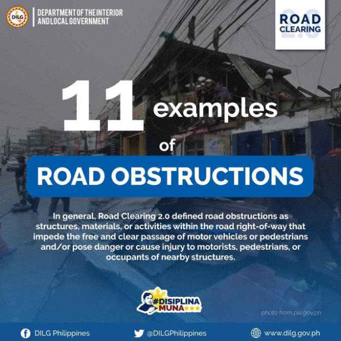 examples of road obstructions
