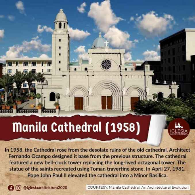 manila cathedral 1958