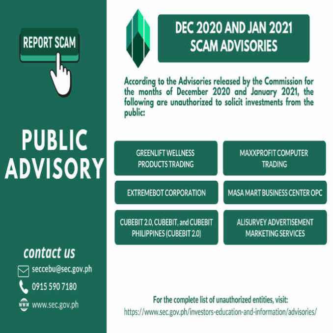 philippine scam advisories