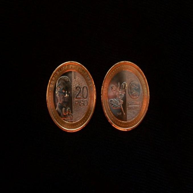 new 20 peso coin