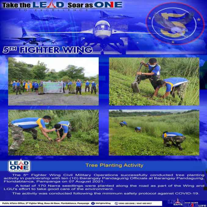 5th fighter wing tree planting activity