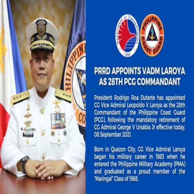 28th commandant of the philippine coast guard