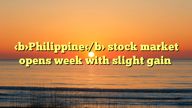 Philippine stock market opens week with slight gain