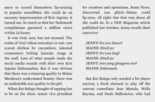 Maine Mendoza on Esquire PH