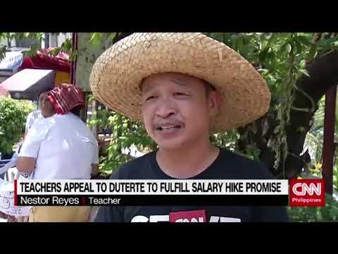 Teachers appeal to Duterte to fulfill salary hike promise