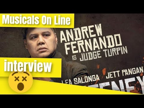 Interviewing Andrew Fernando - Sweeney Todd Manila - Sweeney Todd Manila 2019