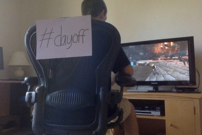 Photo 1: Gaming the day away