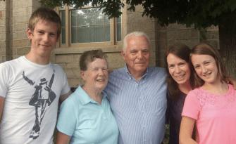 At 10 Hatt with Grandma and Grandpa Reed