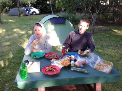 Supper by the tent