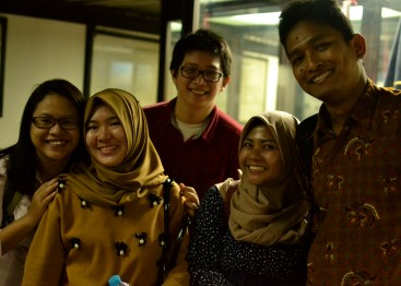 A group photo of some of the students from Indonesia