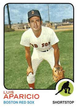 1973 Topps Luis Aparicio Baseball Card – Cards Your Mom Threw Out!