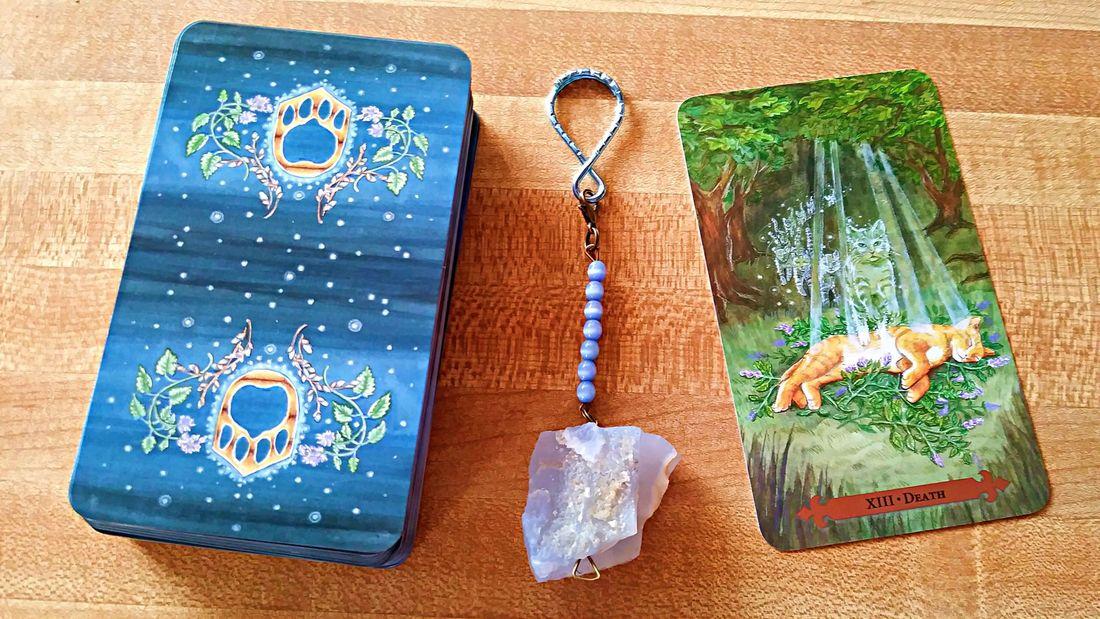 Death Card Mystical Cats Tarot
