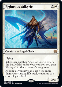 Righteous Valkyrie – A Magic the Gathering Card Review