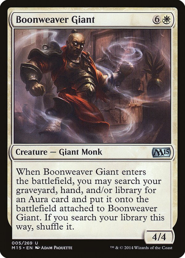 Boonweaver Giant – A Magic the Gathering Card Review