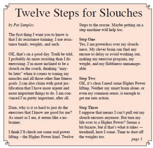 Twelve Steps for Slouches