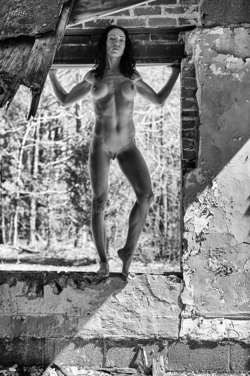 Artistic nude in an abandoned building by ThePhotosmith