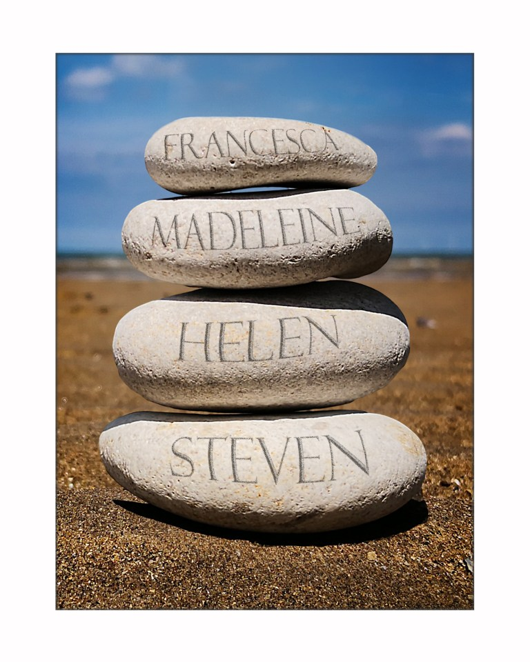 4 names Stone stack 10x8 for display COL