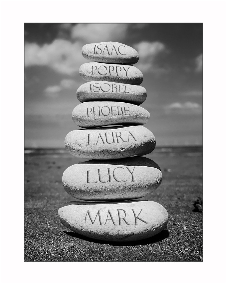 7 namesStone stack 10x8 for display BW
