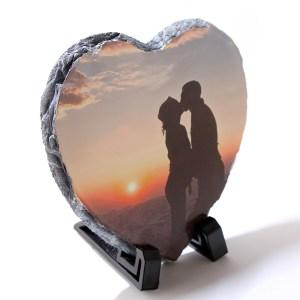 Personalised Heart Rock Slate
