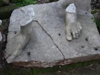 Broken statues around the Anfiteatro Flavio in Pozzuoli