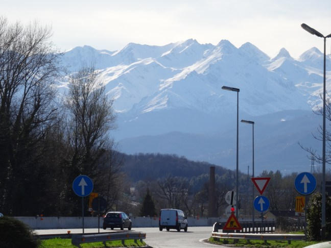 The alps on the French-Italian border
