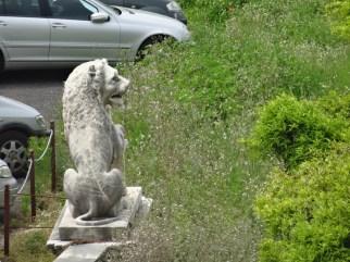 Statue in the car park of the Palazzo Reale di Portici