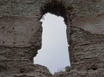 Roman brickwork on the edge of Lago d'Averno