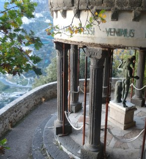 The Temple of Bacchus in the Gardens of Villa Cimbrone in Ravello, Italy