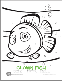 Clown Fish | Free Color-by-Note Worksheet (Rhythm)