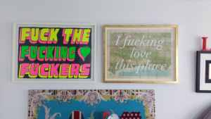 We found the perfect wall space for these brazen artworks in a teenage bedroom in Brighton.