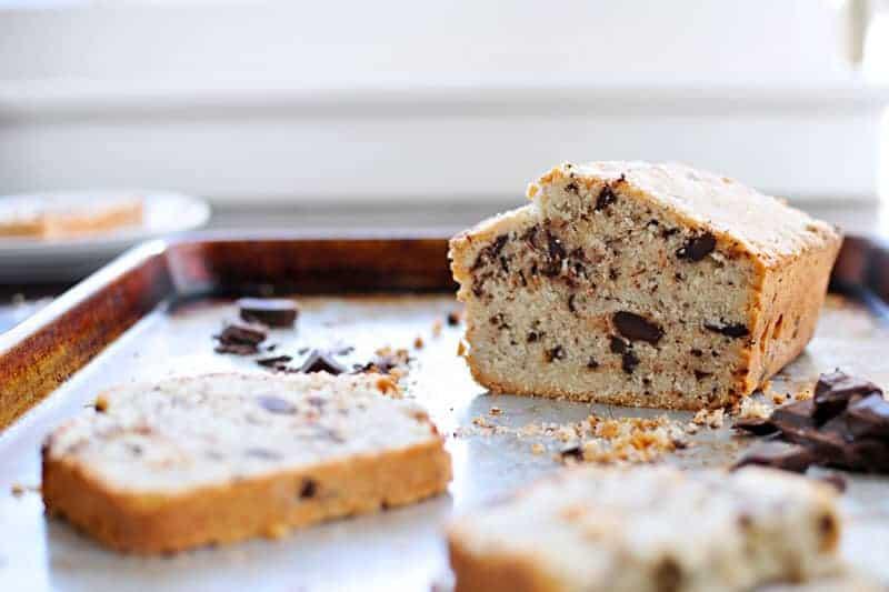 Triple Coconut + Chocolate Bread recipe (via thepigandquill.com) #dairyfree #baking #chocolate #coconut #holiday