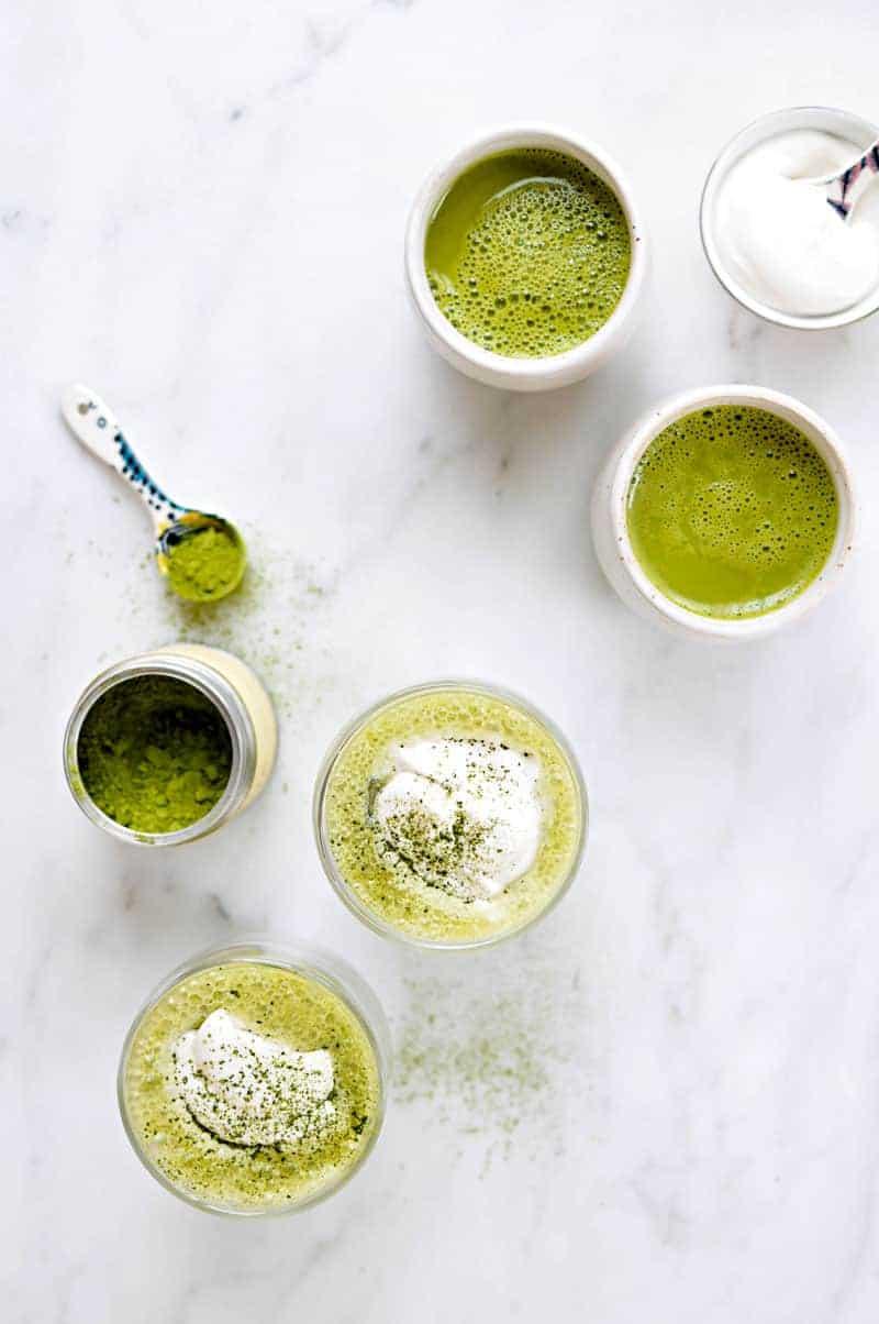 Citrus Matcha Latté recipe hot + iced (via thepigandquill.com) // #vegan #dairyfree #spring #tea