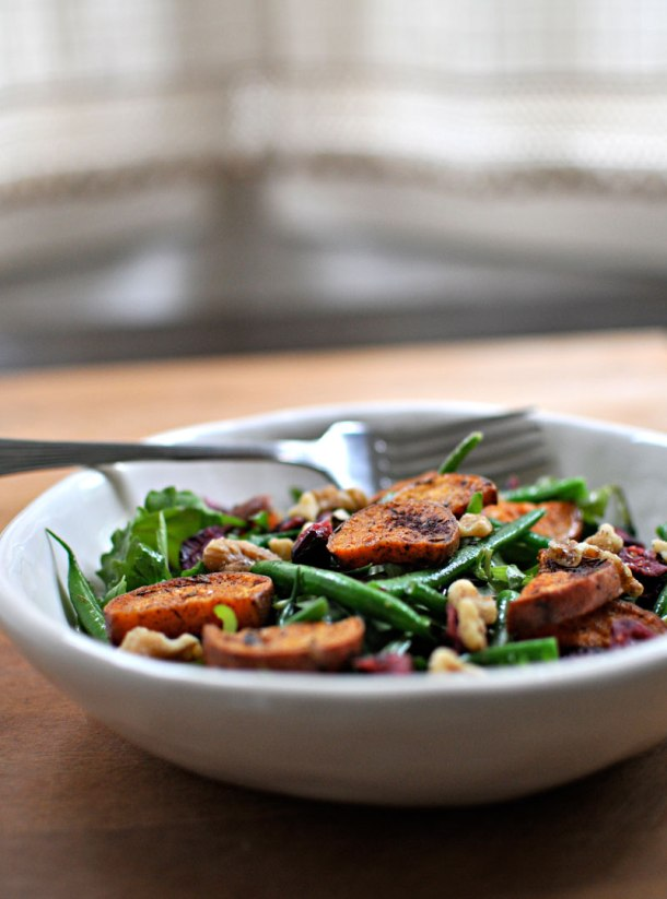 Sweet Potato & Green Bean Salad with Maple-Mustard Dressing   the pig & quill