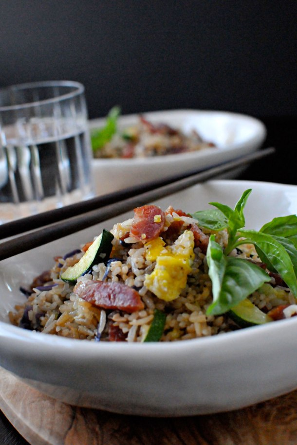 Simple Summer Fried Rice with Chinese Sausage   the pig & quill