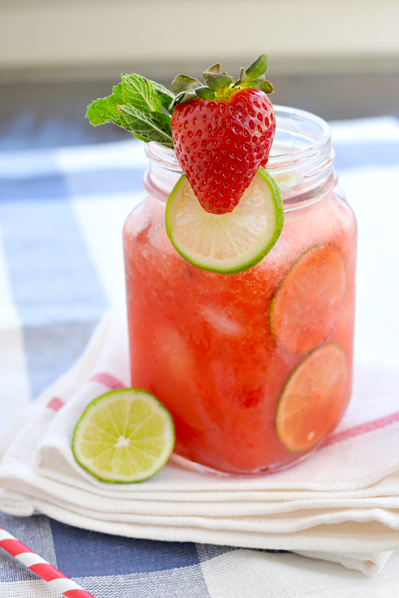 Strawberry-Lime (Coconut) Agua Fresca // the pig & quill #vegan #paleoish