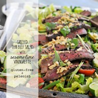 Grilled Thai Beef Salad with Sesame-Lime Vinaigrette + a California Olive Ranch Olive Oil Giveaway -- #SoLetsPigOut