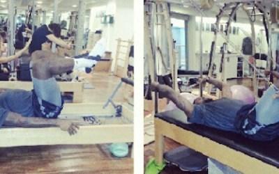 LeBron James Does Pilates