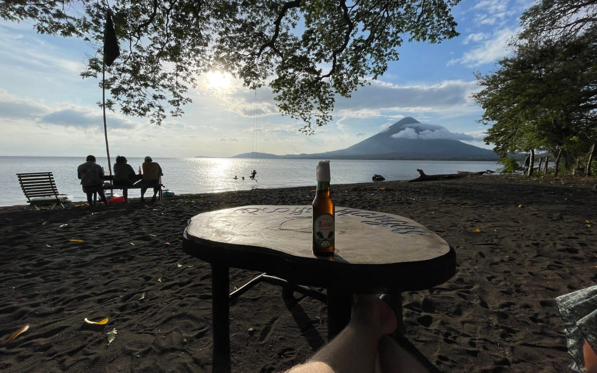 Doing anything at Playa Mangos in Ometepe is a magical experience. A tona (beer) only adds to it!