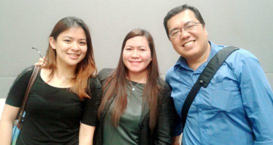 With Ginger Arboleda & Fitz Villafuerte