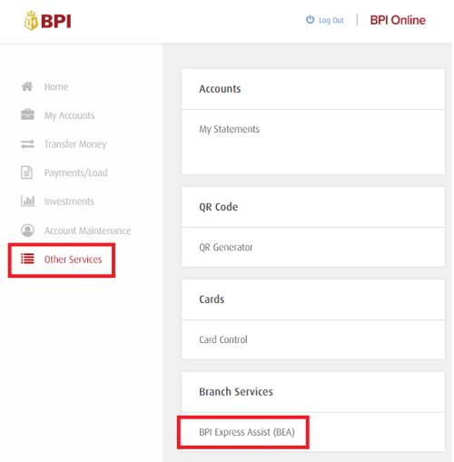 bpi-express-assist-online