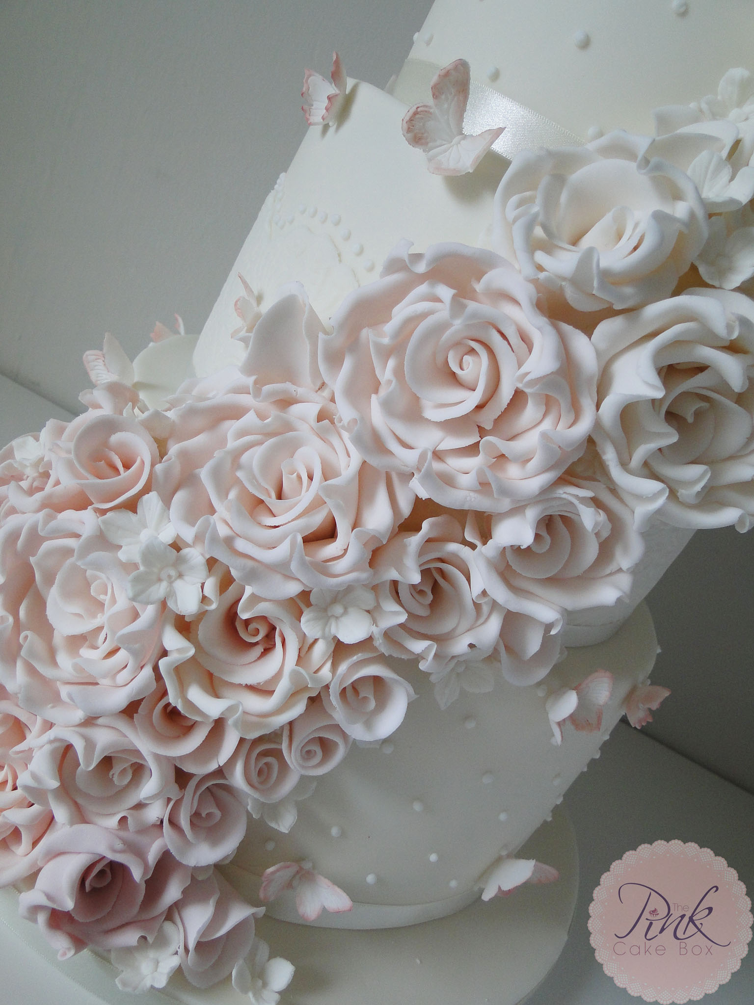 Blush Ombre Rose Wedding Cake Wedding Cakes By The Pink