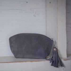 BoHo Leather Bag Grey Suede
