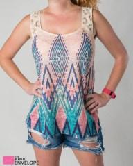Corrigan Crochet Sleeve Knit Top