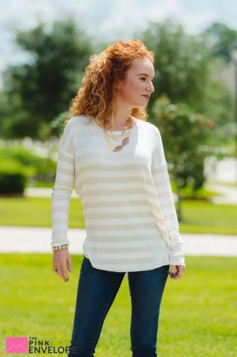 Canby Faux Suede Elbow Patch Knit Top