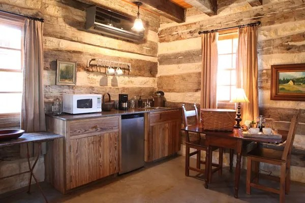 Hoffman Haus Log Cabin Kitchen