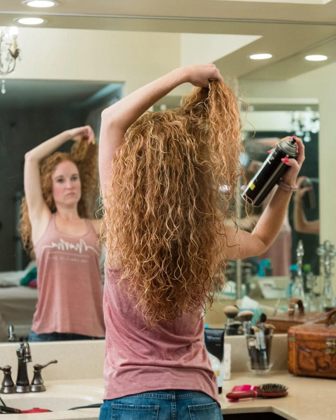 hairspray for curly hair