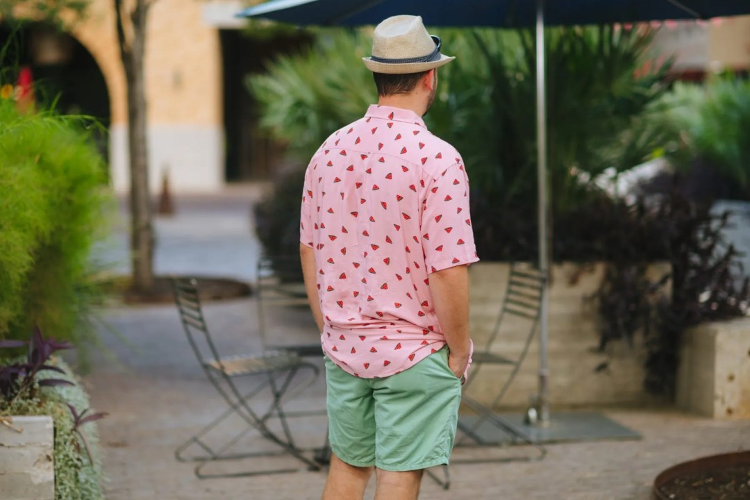Barney Cools Holiday Pink Watermelon Shirt