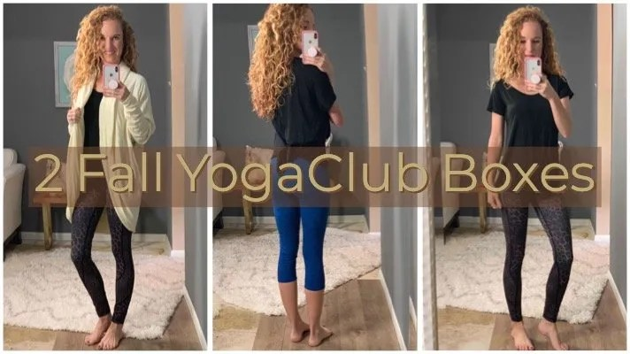 My Fall Yoga Club Boxes – Both Different & Both Cute