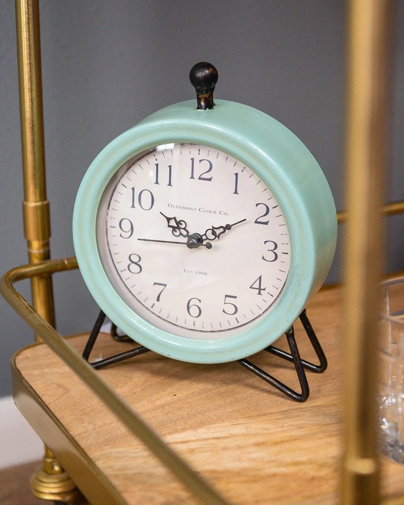 Blue Vintage Clock