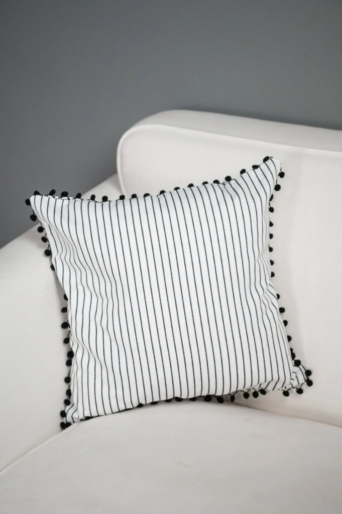 Black and White stripped pillow